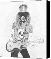 Slash Drawings Canvas Prints - Slash Canvas Print by Josh Bennett