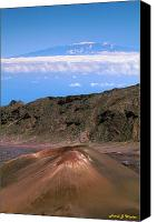 Mauna Kea Canvas Prints - Snow On Mauna Kea Canvas Print by Frank Wicker