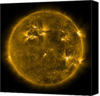 Chromosphere Canvas Prints - Solar Activity On The Sun Canvas Print by Stocktrek Images