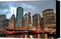 South Street Seaport Canvas Prints - South Street Seaport Canvas Print by June Marie Sobrito