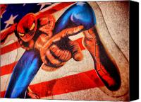 Super Heroe Canvas Prints - Spider Canvas Print by Beto Machado