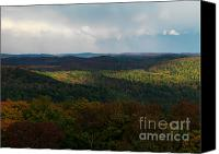 Raining Canvas Prints - Storm Clouds over Fall Nature Scenery Canvas Print by Oleksiy Maksymenko