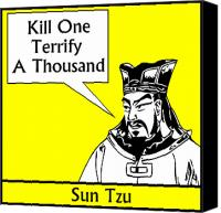 Chinese Canvas Prints - Sun Tzu Canvas Print by War Is Hell Store