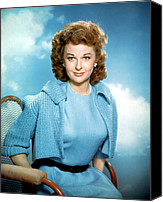 1950s Fashion Canvas Prints - Susan Hayward, 1950s Canvas Print by Everett