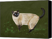 Pictures Of Cats Canvas Prints - Sweetest Siamese Canvas Print by Leslie Allen