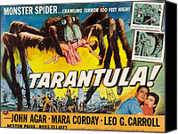 1950s Movies Canvas Prints - Tarantula, John Agar, Mara Corday, 1955 Canvas Print by Everett
