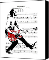 Chuck Berry Canvas Prints - The Duckwalk Canvas Print by Spencer McKain