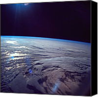 Astronomy Canvas Prints - The Earth Viewed From Space Canvas Print by Stockbyte