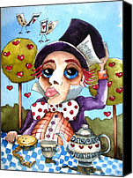 Hatter Canvas Prints - The mad hatter Canvas Print by Lucia Stewart