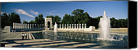 War Monuments And Shrines Canvas Prints - The Pacific Pavilion And Pillars Canvas Print by Richard Nowitz