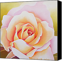 Pretty Painting Canvas Prints - The Rose Canvas Print by Myung-Bo Sim
