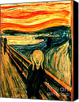 Reproduction Canvas Prints - The Scream Canvas Print by Pg Reproductions