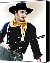 1956 Movies Canvas Prints - The Searchers, John Wayne, 1956 Canvas Print by Everett