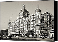 Display Cars Canvas Prints - The Taj Mahal Palace Hotel Canvas Print by Benjamin Matthijs