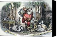 Santa Claus Canvas Prints - Thomas Nast: Santa Claus Canvas Print by Granger