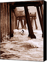 Pilings Canvas Prints - Thrill Ride Canvas Print by Ron Regalado
