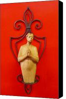 Woodcarving Sculpture Canvas Prints - Untitled Canvas Print by Victor Amor