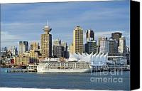 Skylines Canvas Prints - Vancouver skyline Canvas Print by John Greim