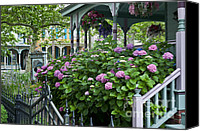 Grand Home Canvas Prints - Victorian house and garden Canvas Print by John Greim