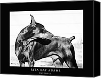 Dobe Canvas Prints - Watchful Canvas Print by Rita Kay Adams