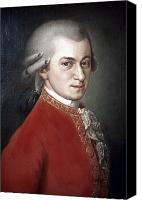 Austrian Canvas Prints - Wolfgang Amadeus Mozart Canvas Print by Granger