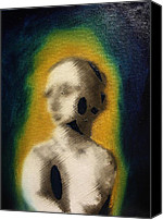 Creepy Painting Canvas Prints - Woman Canvas Print by Michael Kulick
