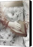 Glove Canvas Prints - Woman With A Book Canvas Print by Joana Kruse