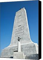 Inventors Canvas Prints - Wright Brothers National Memorial Canvas Print by John Greim