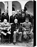 Diplomacy Canvas Prints - Yalta Conference, 1945 Canvas Print by Granger