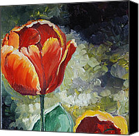 Tulip Stretched Canvas Prints - Your Majesty Canvas Print by Alla Dickson