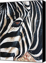 Ilse Kleyn Painting Canvas Prints - Zebra Canvas Print by Ilse Kleyn