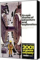 Horror Fantasy Movies Canvas Prints - 2001 A Space Odyssey, 1968 Canvas Print by Everett