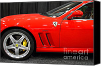 Sportscars Photo Canvas Prints - 2003 Ferrari 575M . 7D9389 Canvas Print by Wingsdomain Art and Photography