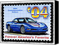 Special Edition Canvas Prints - 2004 Commemorative Edition Corvette Canvas Print by K Scott Teeters