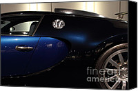 Transportation Tapestries Textiles Canvas Prints - 2006 Bugatti Veyron - 7D17281 Canvas Print by Wingsdomain Art and Photography