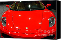Sportscars Photo Canvas Prints - 2006 Ferrari F430 Spider . 7D9383 Canvas Print by Wingsdomain Art and Photography