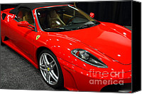 Sportscars Photo Canvas Prints - 2006 Ferrari F430 Spider . 7D9385 Canvas Print by Wingsdomain Art and Photography