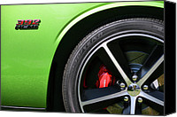 2012 Digital Art Canvas Prints - 2011 Dodge Challenger SRT8 392 Hemi Green with Envy Canvas Print by Gordon Dean II