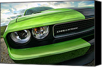2011 Canvas Prints - 2011 Dodge Challenger SRT8 Green with Envy Canvas Print by Gordon Dean II