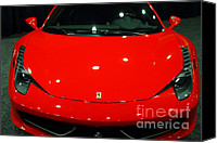 Sportscars Photo Canvas Prints - 2011 Ferrari 458 Italia . 7D9396 Canvas Print by Wingsdomain Art and Photography