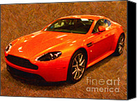 2012 Digital Art Canvas Prints - 2012 Aston Martin DB9 Canvas Print by Wingsdomain Art and Photography