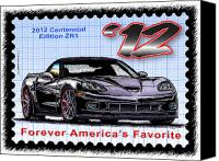 Special Edition Canvas Prints - 2012 Centennial Edition ZR1 Corvette Canvas Print by K Scott Teeters