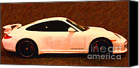 2012 Digital Art Canvas Prints - 2012 Porsche 911 Carrera GTS Canvas Print by Wingsdomain Art and Photography