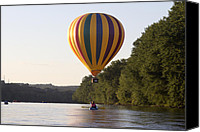 Androscoggin River Canvas Prints - 20th Great Falls Balloon Festival Canvas Print by Jim Walker