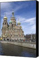 Church On Spilled Blood Canvas Prints - Cathedral Canvas Print by Igor Sinitsyn