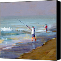 Shore Painting Canvas Prints - RCNpaintings.com Canvas Print by Chris N Rohrbach