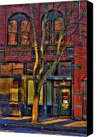 Pioneer Square Canvas Prints - 219 Washington Street Canvas Print by David Patterson