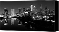 Philadelphia Skyline Canvas Prints - 23 th Street Bridge Philadelphia Canvas Print by Louis Dallara