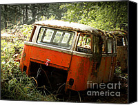 Deluxe Canvas Prints - 23 Window Buses in Repose Canvas Print by Michael David Sorensen