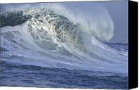 Wave Canvas Prints - 25 Feet on a Beautiful Morning Canvas Print by Stan and Anne Foster